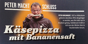 Käsepizza mit Bananensaft